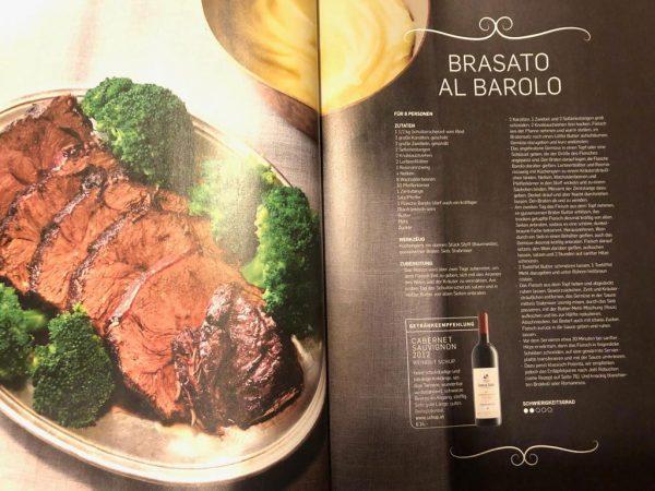 Falstaff Rezept inkl. Weinempfehlung Cabernet Sauvignon Jahrgang 2012 - 30.12.2018