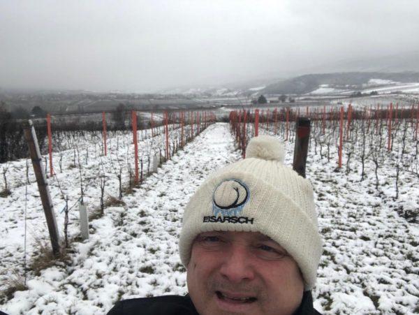 Super der Schnee zum schneiden im Weingarten 10.01.2019